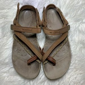Merrell Siena sandals light brown leather 7